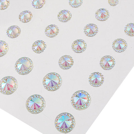 DB Pack of 50 Pointed Resin Gems - 5 colors to choose from