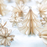 32 Pack Laser Cut 3D Wooden Christmas Decorations Kit