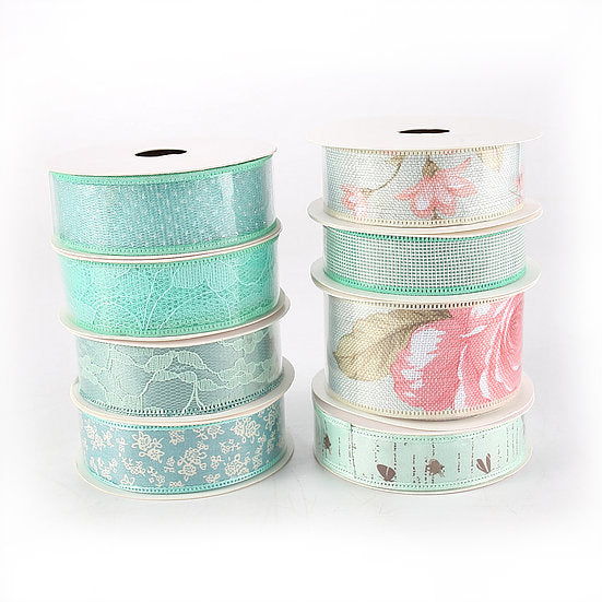 DB Set of 8 Mint Ribbons - 5 yards per reel (DBR01-M)