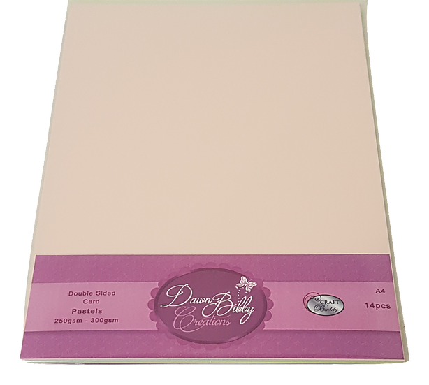 A4 Double Sided Pastels Card Pack - 14 Sheets