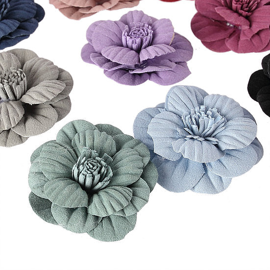 DB Set 27 of Assorted Matte 3D Fabric Paper Flowers