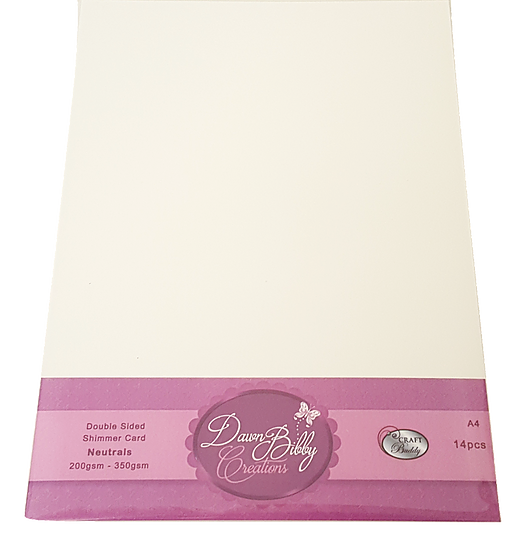 A4 Double Sided Neutrals Shimmer Card Pack
