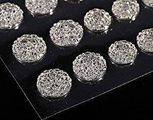 CB070 CLEAR - 50 Self Adhesive Crystal Diamante Rhinestone Moon Rocks