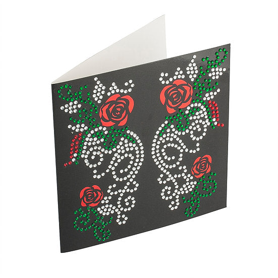 BA.BK Roses Crystal Card Kit on Black