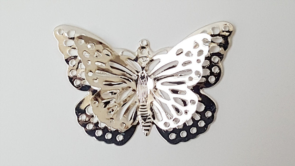DB 10 Metal filigree 3D butterfly Embellishments