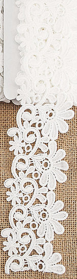 CL-4  Polyester Crochet Lace Trim - 5 yards 6.5cm