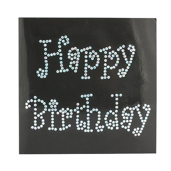 L.BK Birthday Wishes Crystal Card Kit on Black