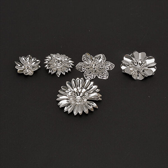DB 50 Metal filigree 3D flower Embellishments (DBME-02)