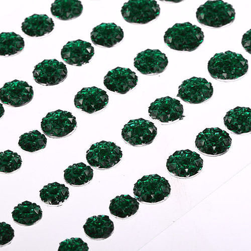 CB070 GREEN - 50 Self Adhesive Crystal Diamante Rhinestone Moon Rocks