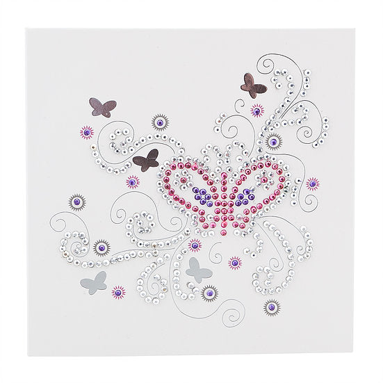 BE Butterfly Crystal Card Kit