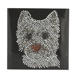Z.BK Dog Crystal Card Kit on Black