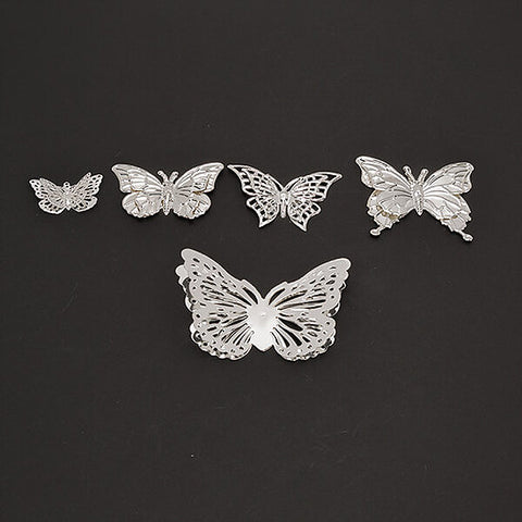 DB 50 Metal filigree 3D Butterfly Embellishments (DBME-01)