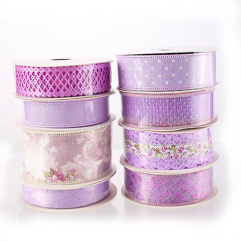 DB Set of 8 Lilac Ribbons - 5 yards per reel (DBR01-L)