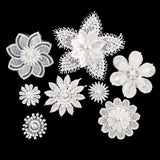 Set of 80 Embellished Layered Lace Flowers