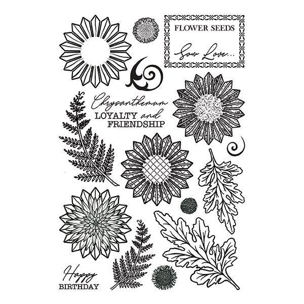 Forever Flowerz - Chic Chrysanthemums A5 Clear Stamp Set - FS02