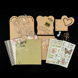Tabbed Album Kit - Inc MDF Sheets, Papers, Die Cuts & Embellishments