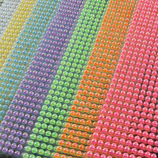 24 Jumbo Packs Of Self Adhesive Pearl Gems - 2 OPTIONS