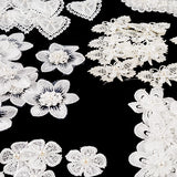 Set of 70 Embellished Lace Motifs