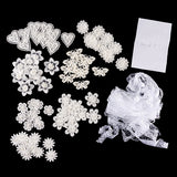Set of 70 Embellished Lace Motifs With BONUS 20M Mixed White Lace Worth £4.99