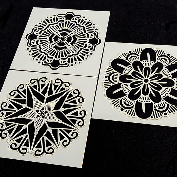 "Set of 3 6x6"" Mandala Stencils"