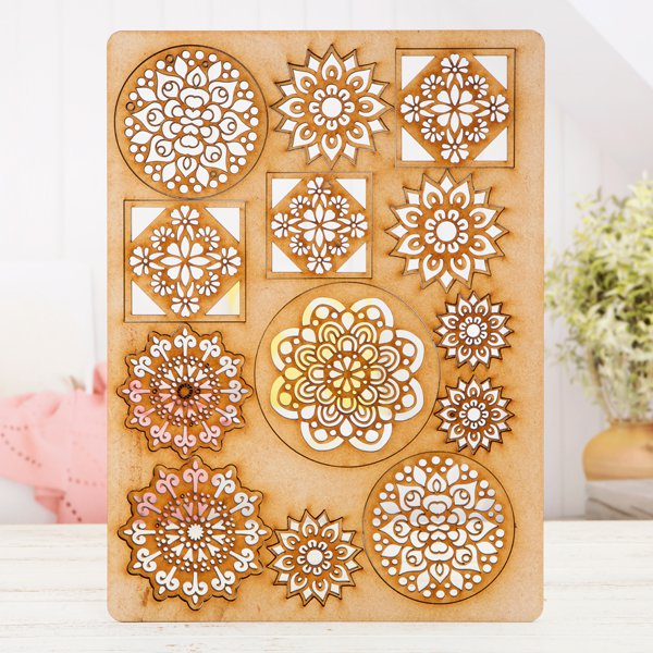 Pretty Gets Gritty - MDF A4 Grab Sheets - Mandala Magic