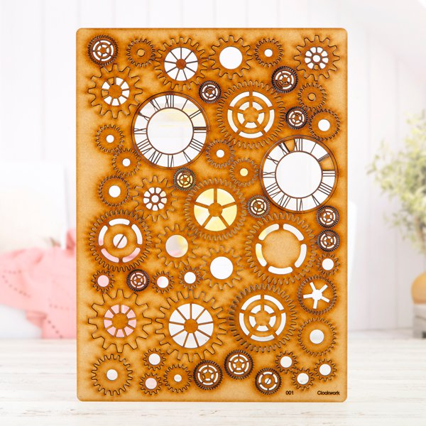 Lynette Jasper - MDF A4 Grab Sheets - Clockwork