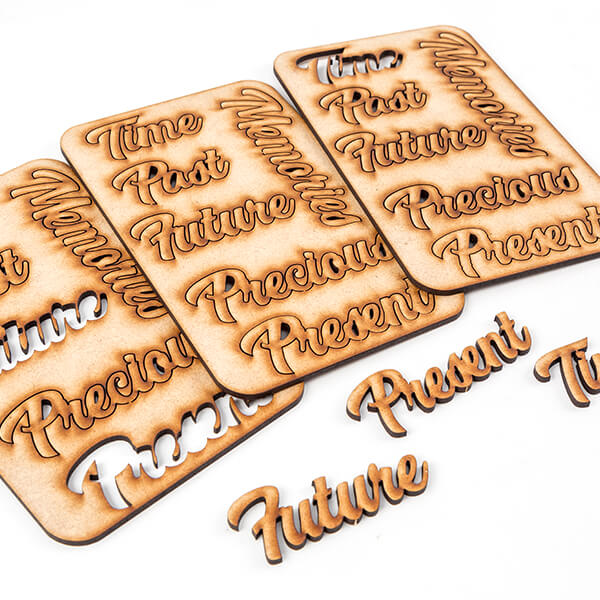 Pretty Gets Gritty - MDF Timeless Messages Set Of 18