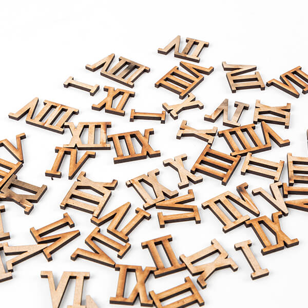 Pretty Gets Gritty - MDF Numbers And Numerals - Set Of 96 Pieces