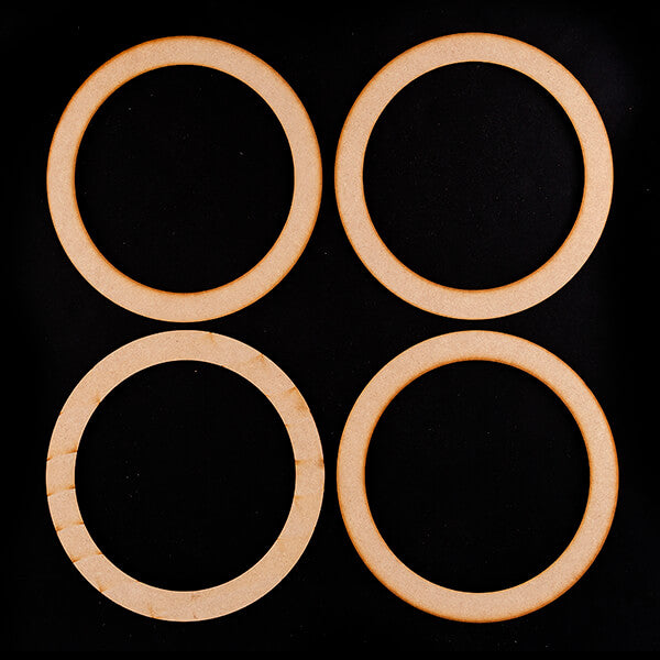 Set of 4 MDF Wreath Blanks