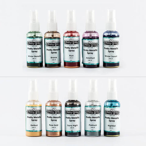 Pretty Gets Gritty - Metallic Shimmer Sprays Complete Collection