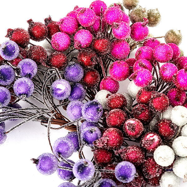 5 Bunches of Microbead Berry Embellishments