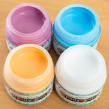 Pretty Gets Gritty - Set of 4 Chalky Acrylic Paint - Nude, Snow, Aqua and Cupcake