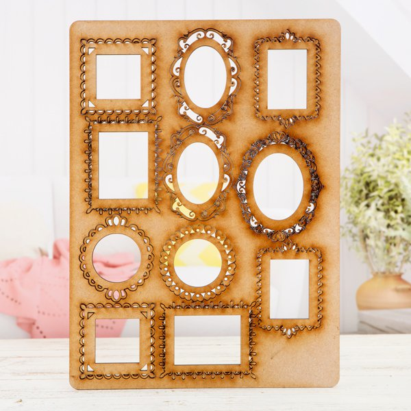 Pretty Gets Gritty - MDF A4 Grab Sheets - Ornate Frames