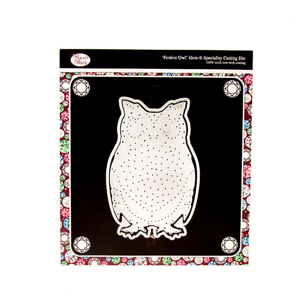 Gem It Festive Owl Die Set - 2 Dies