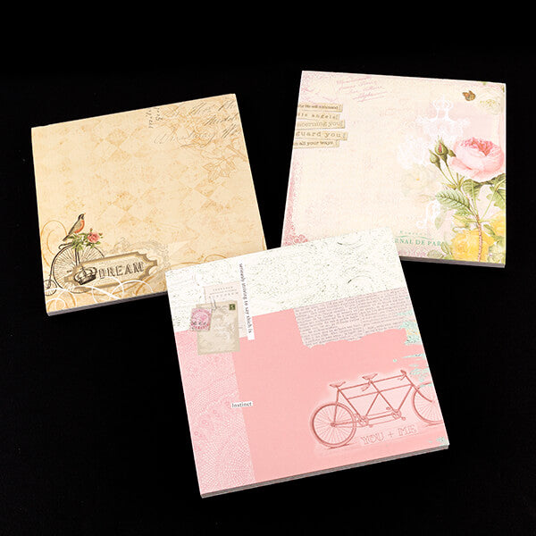 "Set Of 3 8X8"" Designer Paper Pads"