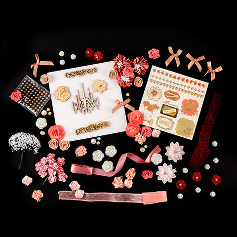 Pink Poppy Embellishment Collection - 19 Packs & 1 Paper Pad