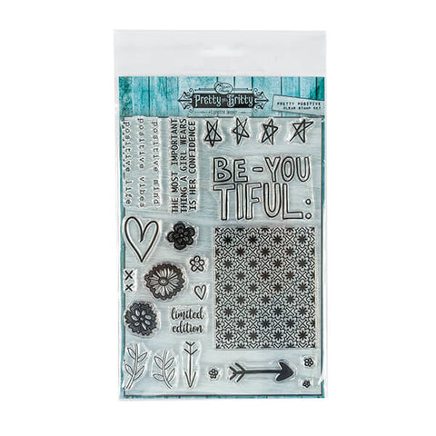Lynette Jasper Pretty Positive - 22 Stamp Set