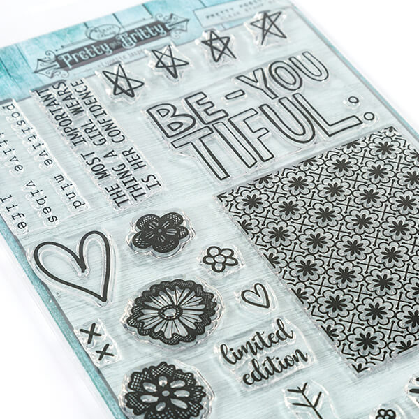 Pretty Gets Gritty - Pretty Positive - 22 Stamp Set