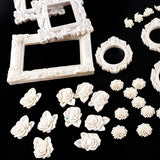 Resin Embellishment Collection 262 Elements With 20m of White Lace