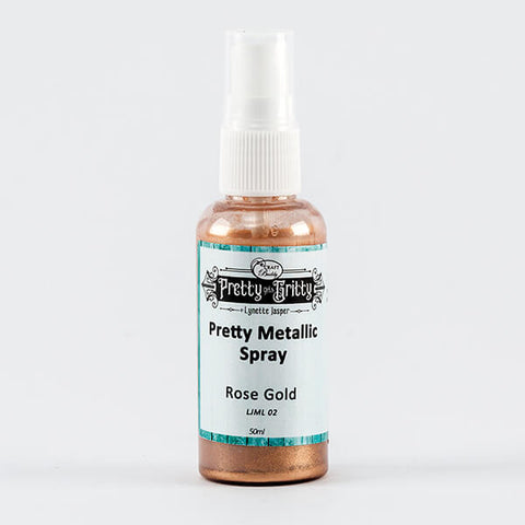 Pretty Gets Gritty - Metallic Shimmer Spray - Rose Gold
