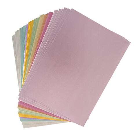 90 Sheets of Pastel Satin Card - 250GSM