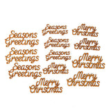 12 Piece Laser Cut MDF Christmas Greetings Kit