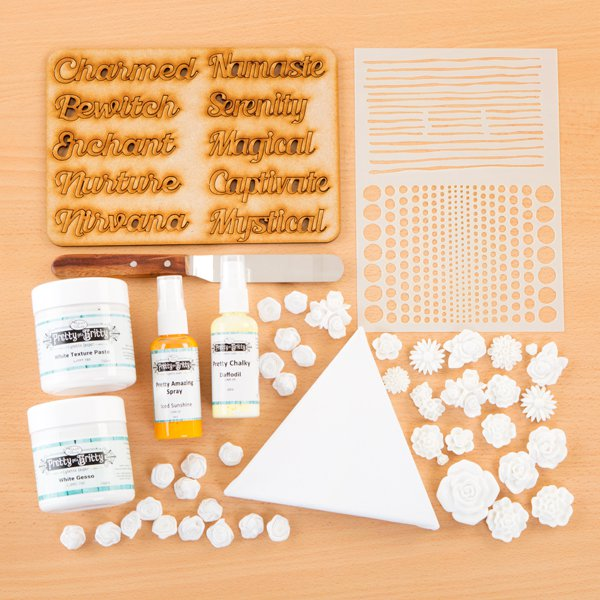 Pretty Gets Gritty - Basic Mixed Media Starter Kit