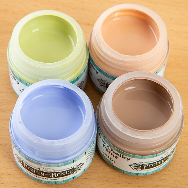 Pretty Gets Gritty - Set of 4 Chalky Acrylic Paint - Naked, Envy, Latte, Lilac