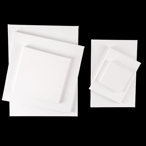 Set of 6 Assorted Size Canvases - 3 Square & Rectangle