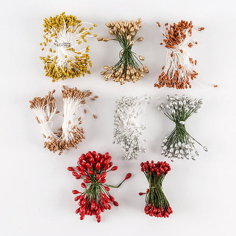 Set of 8 Flower Stamens Bunches