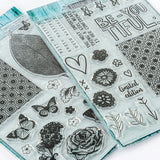 Pretty Gets Gritty - 4 Stencil & 41 Stamp Collection