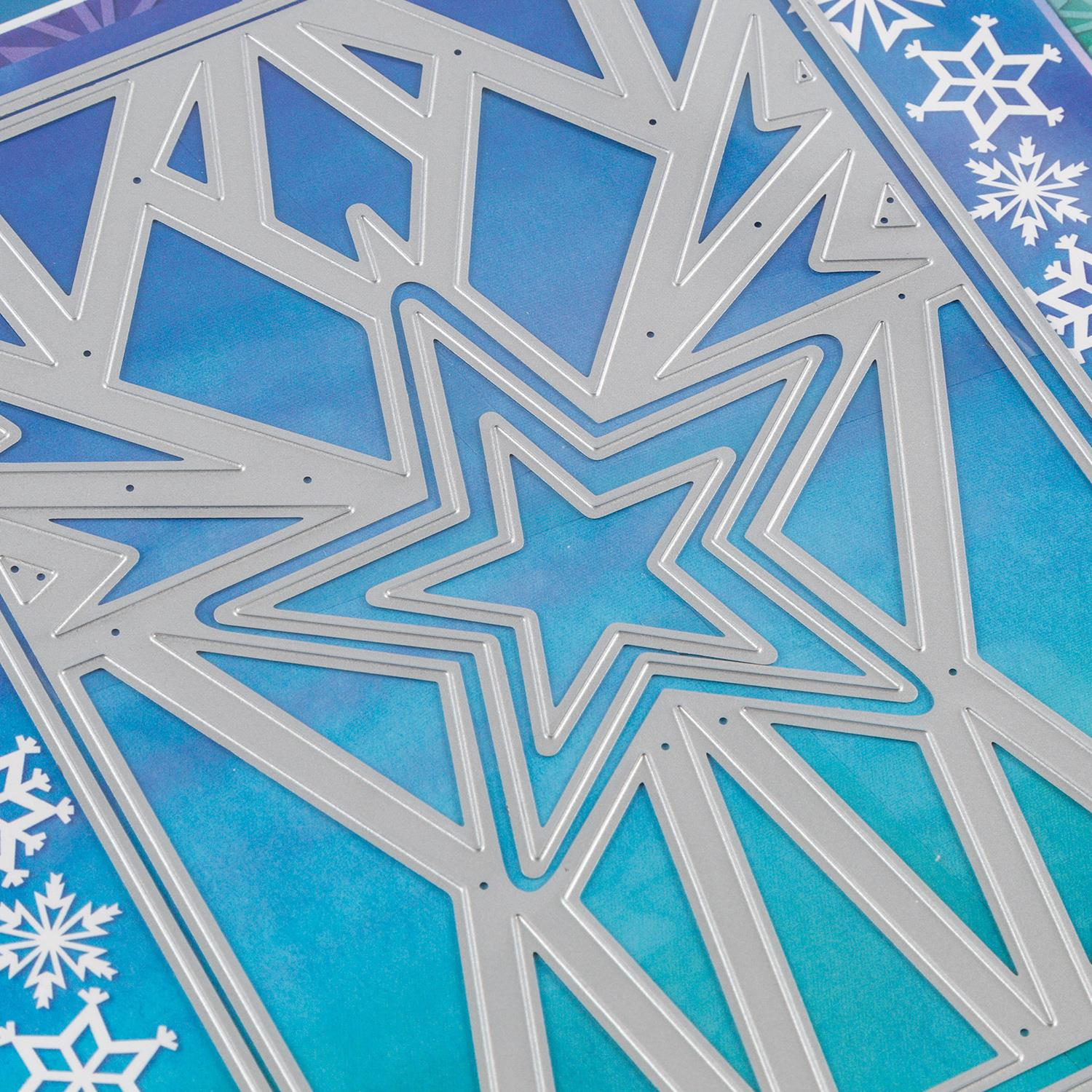 Craft Buddy Star Explosion Background Die Set - 4 Dies