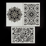 Set Of 3 A5 Eastern Influence Premium Embossing Stencils