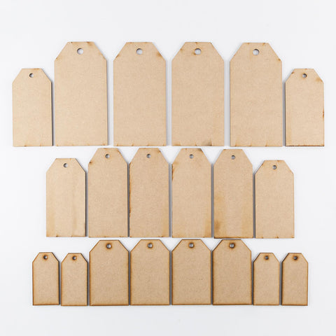 Lynette Jasper Set of 20 MDF Crafty Tags